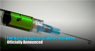 The Whole World Is Celebrating This News: Diabetes Vaccine Officially Announced