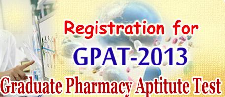 Registration for GPAT 2013