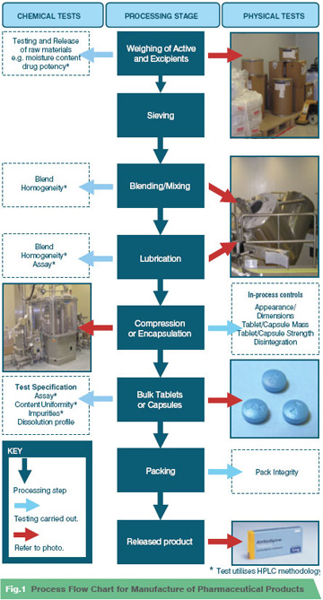 Pharmaceutical Products Manufacture & Analytical Testing Process