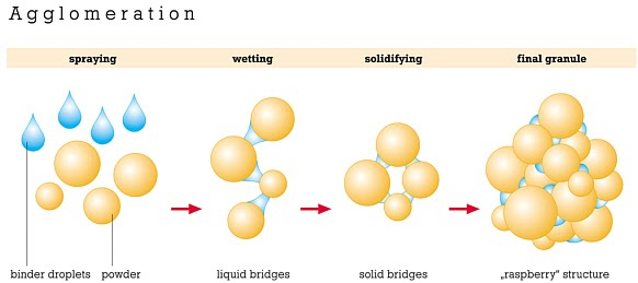Granulation and Particle-Bonding Mechanism of Granulation